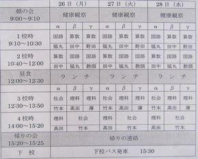 入試対策特訓学習3日間(6年生)